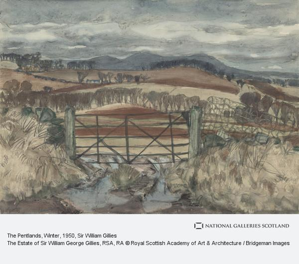 Sir William Gillies, The Pentlands, Winter