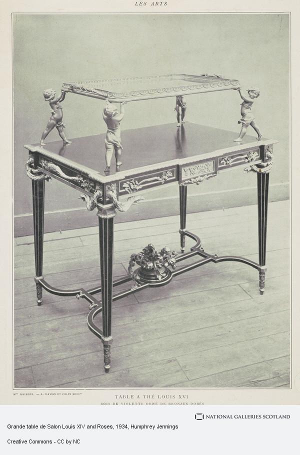 Humphrey Jennings, Grande table de Salon Louis XIV and Roses