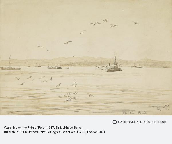 Sir Muirhead Bone, Warships on the Firth of Forth