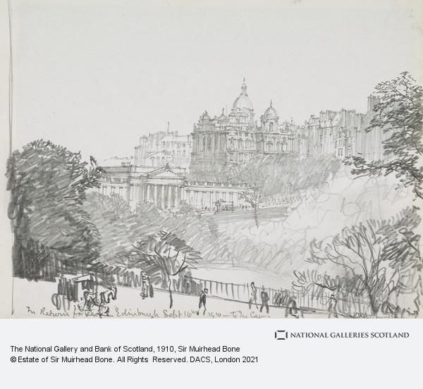 Sir Muirhead Bone, The National Gallery and Bank of Scotland