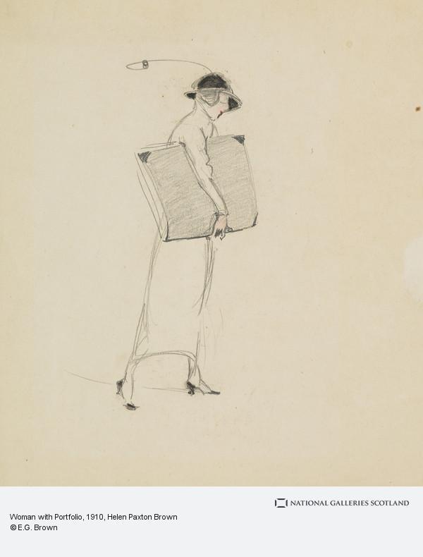 Helen Paxton Brown, Woman with Portfolio