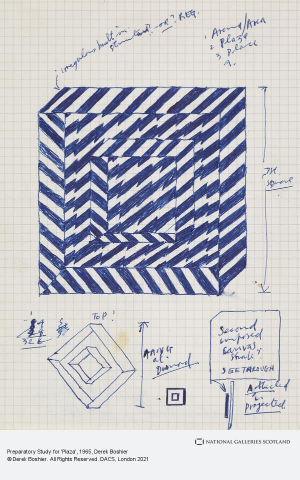 Derek Boshier, Preparatory Study for 'Plaza'