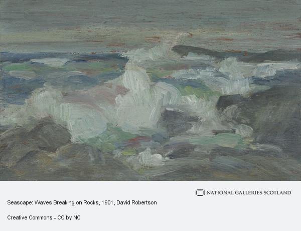 David Robertson, Seascape: Waves Breaking on Rocks