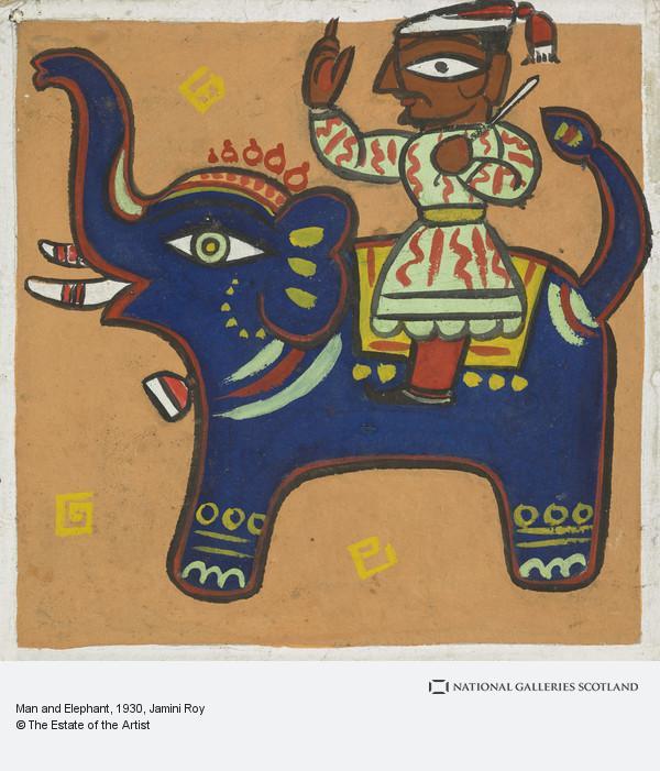 Jamini Roy, Man and Elephant