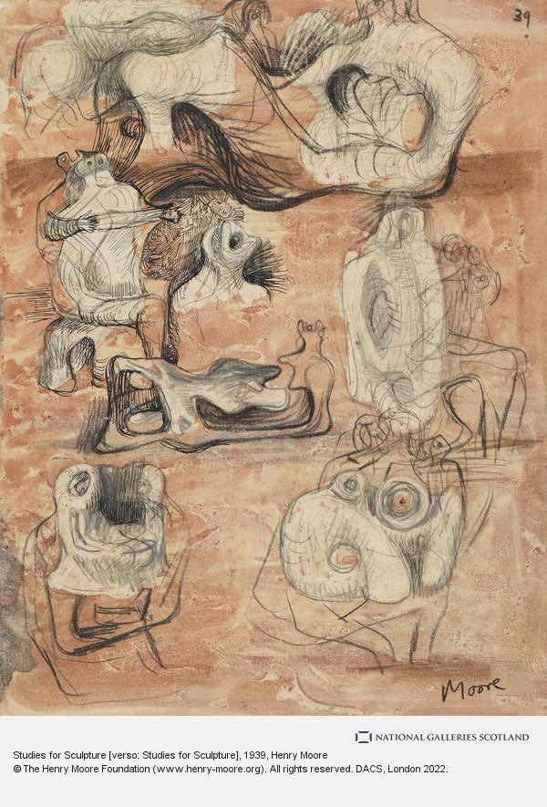 Henry Moore, Studies for Sculpture [verso: Studies for Sculpture]