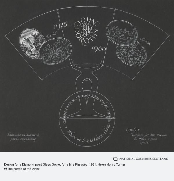 Helen Monro Turner, Design for a Diamond-point Glass Goblet for a Mrs Pheysey