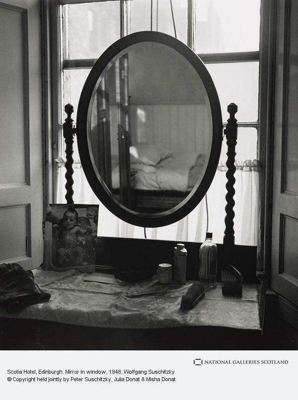 Wolfgang Suschitzky, Scotia Hotel, Edinburgh. Mirror in window