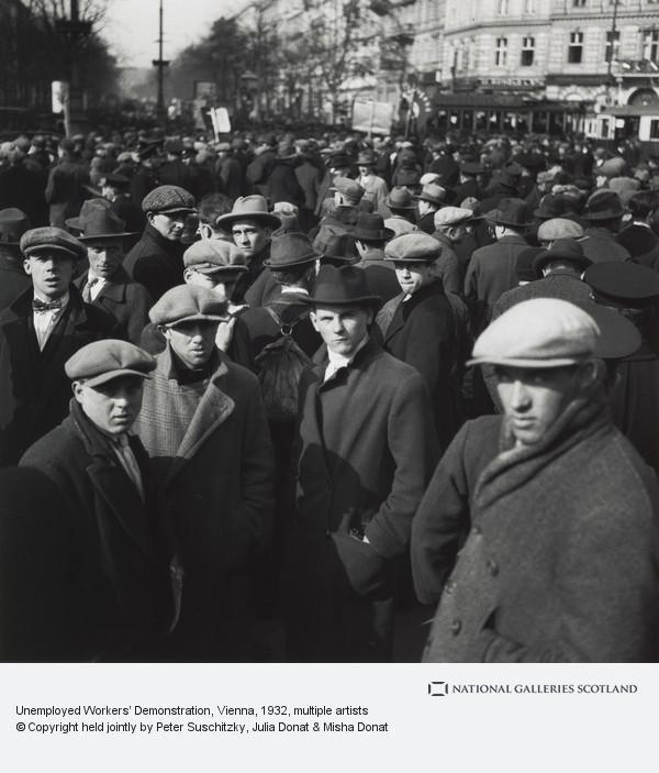 Edith Tudor-Hart, Unemployed Workers' Demonstration, Vienna