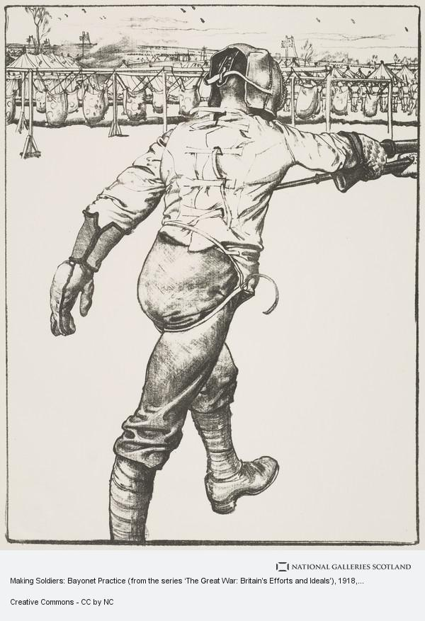 Eric Kennington, Making Soldiers: Bayonet Practice (from the series 'The Great War: Britain's Efforts and Ideals')