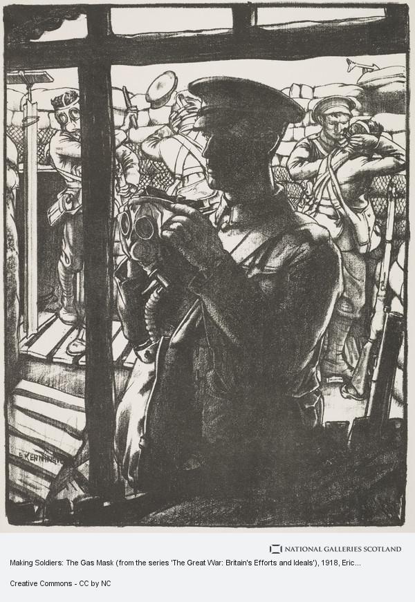 Eric Kennington, Making Soldiers: The Gas Mask (from the series 'The Great War: Britain's Efforts and Ideals')