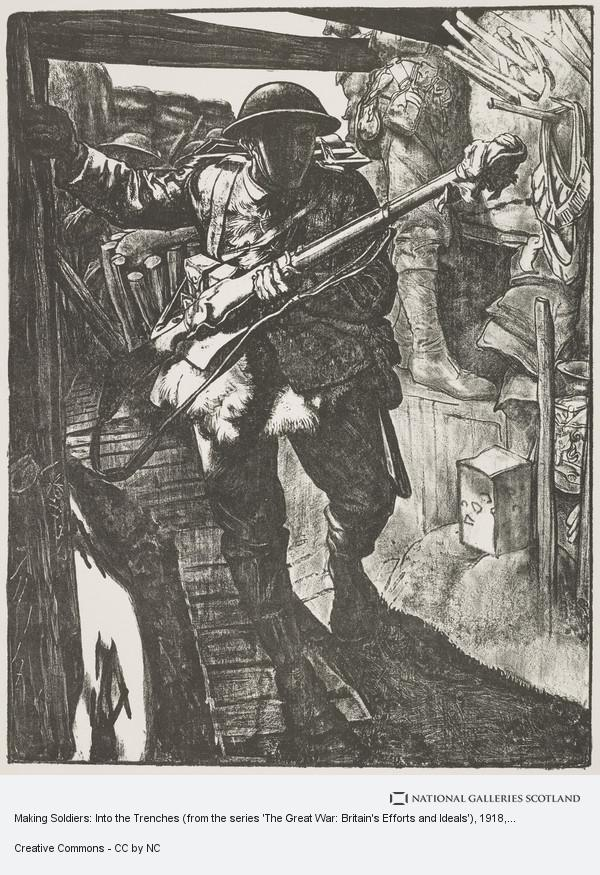 Eric Kennington, Making Soldiers: Into the Trenches (from the series 'The Great War: Britain's Efforts and Ideals')