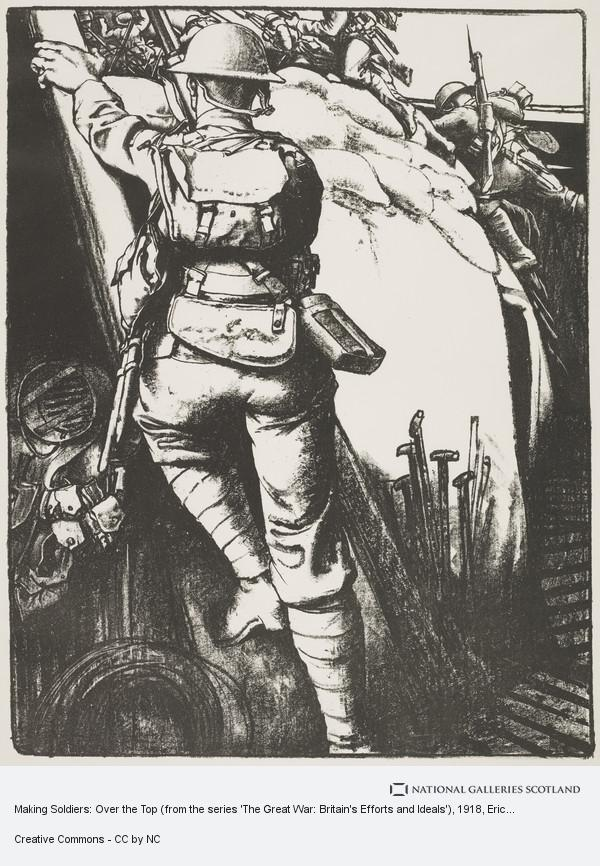 Eric Kennington, Making Soldiers: Over the Top (from the series 'The Great War: Britain's Efforts and Ideals')