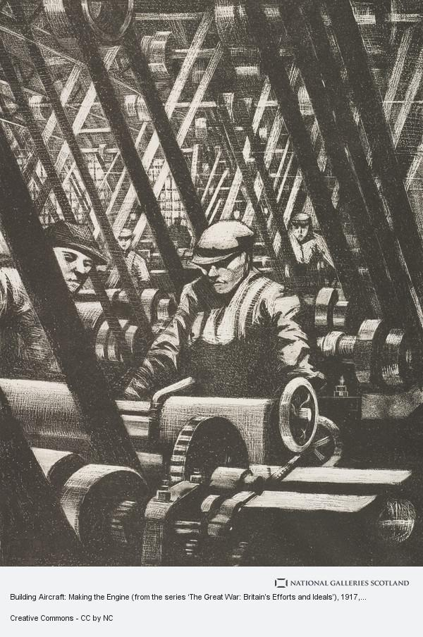 C.R.W Nevinson, Building Aircraft: Making the Engine (from the series 'The Great War: Britain's Efforts and Ideals')