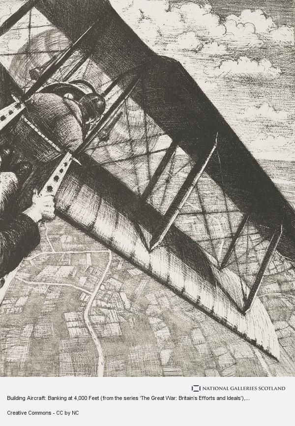 C.R.W Nevinson, Building Aircraft: Banking at 4,000 Feet (from the series 'The Great War: Britain's Efforts and Ideals')