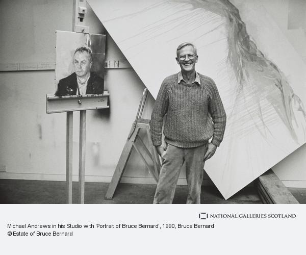 Bruce Bernard, Michael Andrews in his Studio with 'Portrait of Bruce Bernard'