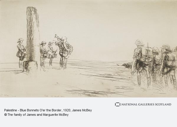 James McBey, Palestine - Blue Bonnets O'er the Border