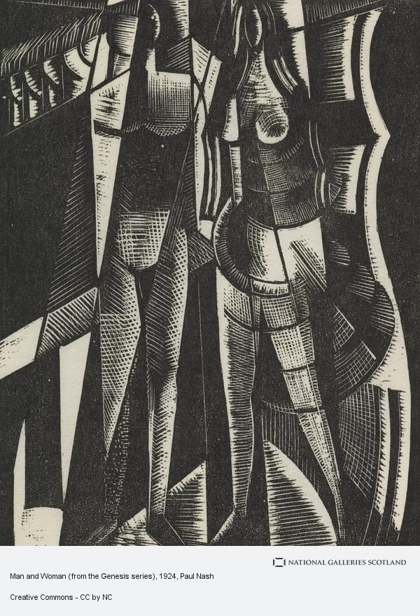 Paul Nash, Man and Woman (from the Genesis series)