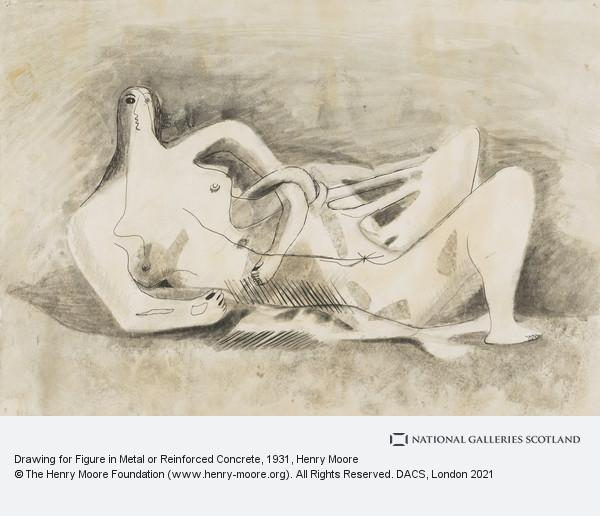 Henry Moore, Drawing for Figure in Metal or Reinforced Concrete