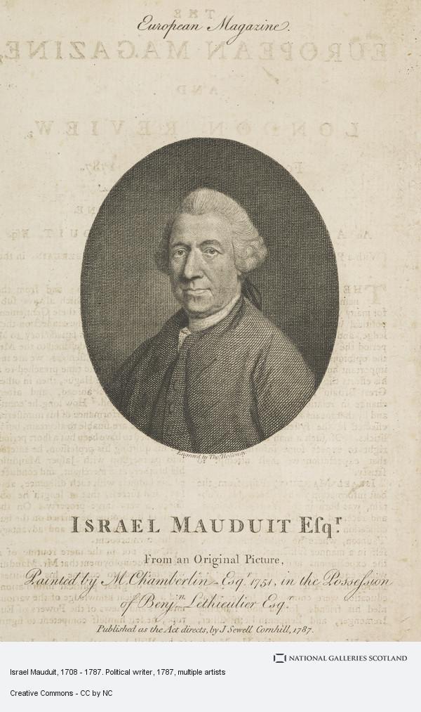 Thomas Holloway, Israel Mauduit, 1708 - 1787. Political writer