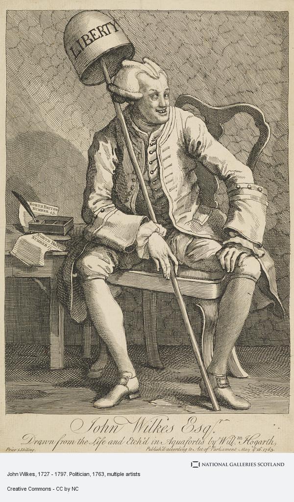 William Hogarth, John Wilkes, 1727 - 1797. Politician