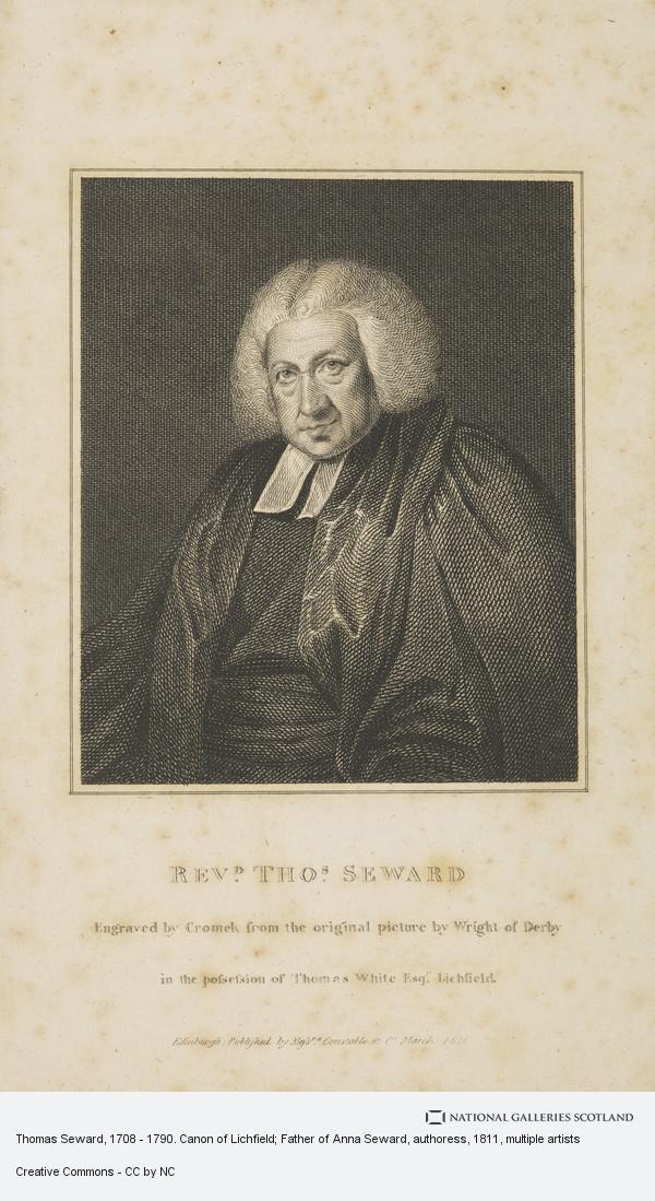 Robert Hartley Cromek, Thomas Seward, 1708 - 1790. Canon of Lichfield; Father of Anna Seward, authoress