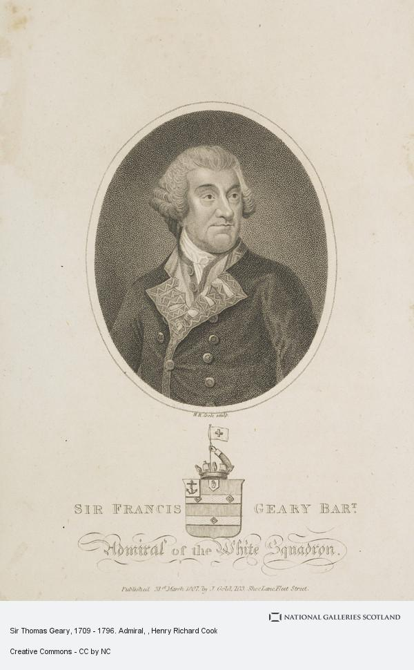 Henry Richard Cook, Sir Thomas Geary, 1709 - 1796. Admiral