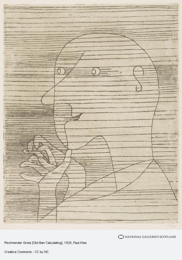 Paul Klee, Rechnender Greis [Old Man Calculating]