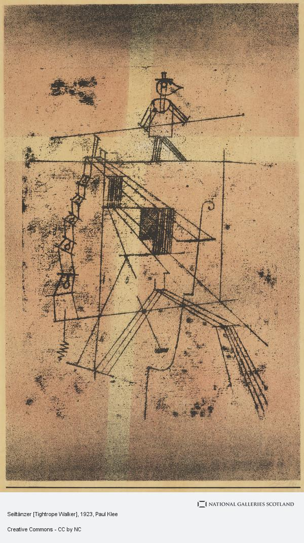 Paul Klee, Seiltänzer [Tightrope Walker]