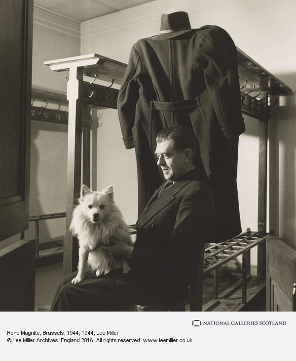 Lee Miller, Rene Magritte, Brussels, 1944