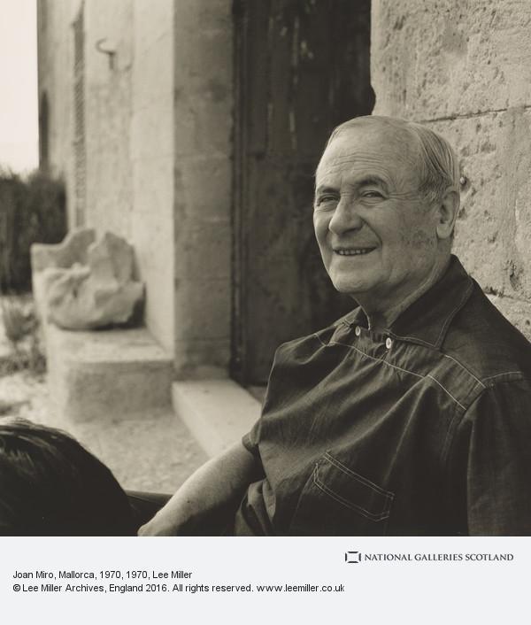 Lee Miller, Joan Miro, Mallorca, 1970