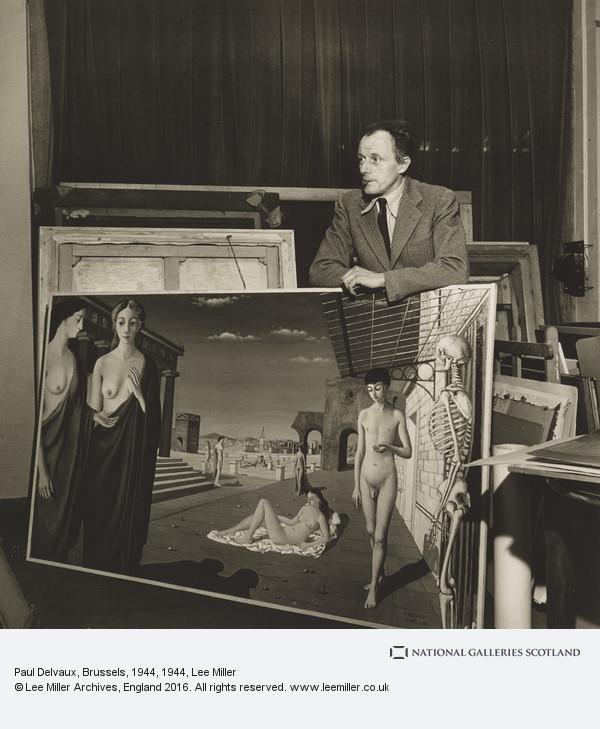 Lee Miller, Paul Delvaux, Brussels, 1944