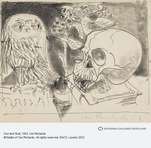 Ceri Richards, Owl and Skull