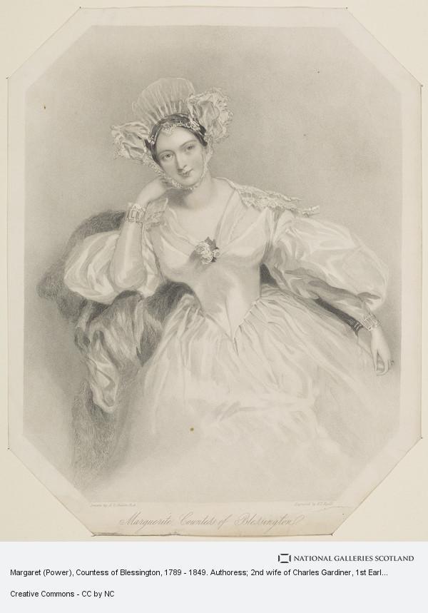 Henry Thomas Ryall, Margaret (Power), Countess of Blessington, 1789 - 1849. Authoress; 2nd wife of Charles Gardiner, 1st Earl of Blessington