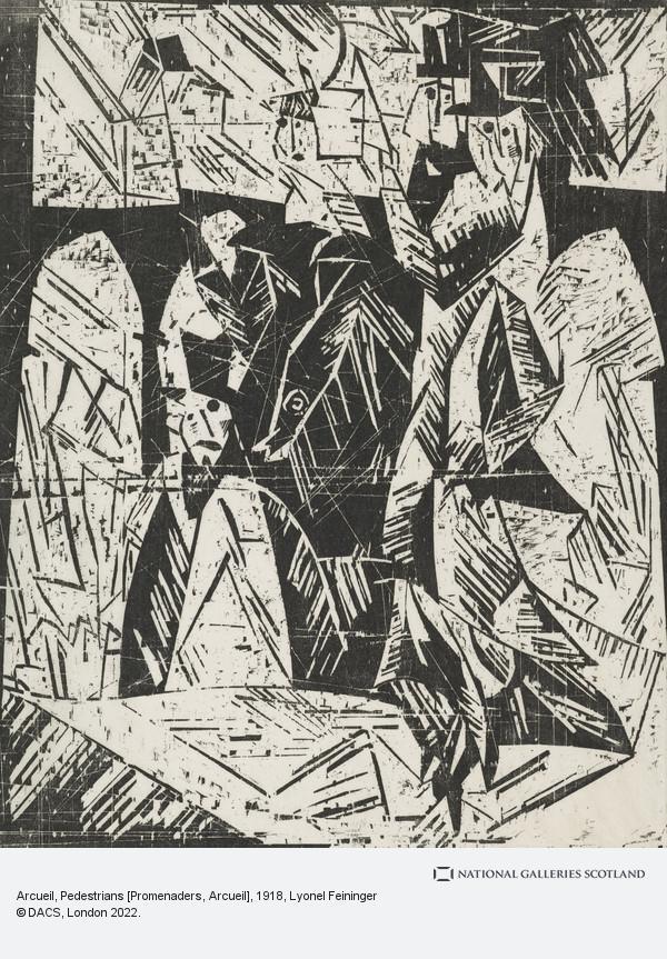 Lyonel Feininger, Arcueil, Pedestrians [Promenaders, Arcueil]
