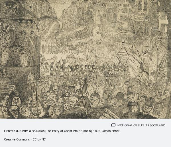 James Ensor, L'Entree du Christ a Bruxelles [The Entry of Christ into Brussels]
