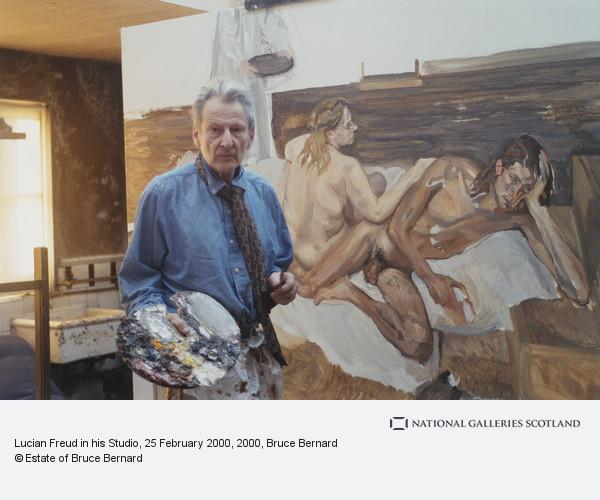Bruce Bernard, Lucian Freud in his Studio, 25 February 2000
