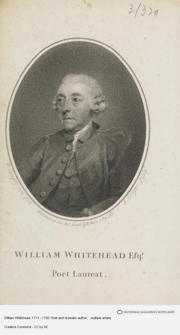 William Doughty, William Whitehead, 1715 - 1785. Poet and dramatic author