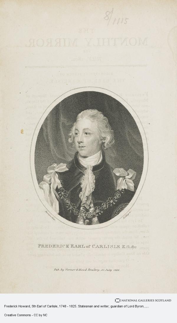 Ridley, Frederick Howard, 5th Earl of Carlisle, 1748 - 1825. Statesman and writer; guardian of Lord Byron