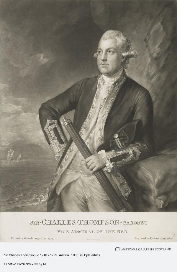 Richard Earlom, Sir Charles Thompson, c 1740 - 1799. Admiral