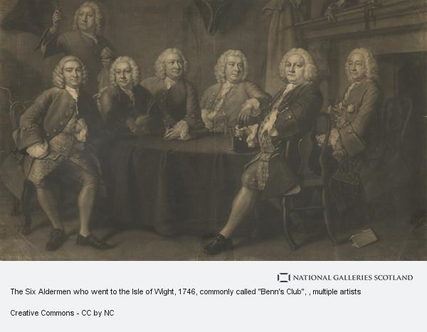 Johannes Faber, The Six Aldermen who went to the Isle of Wight, 1746, commonly called
