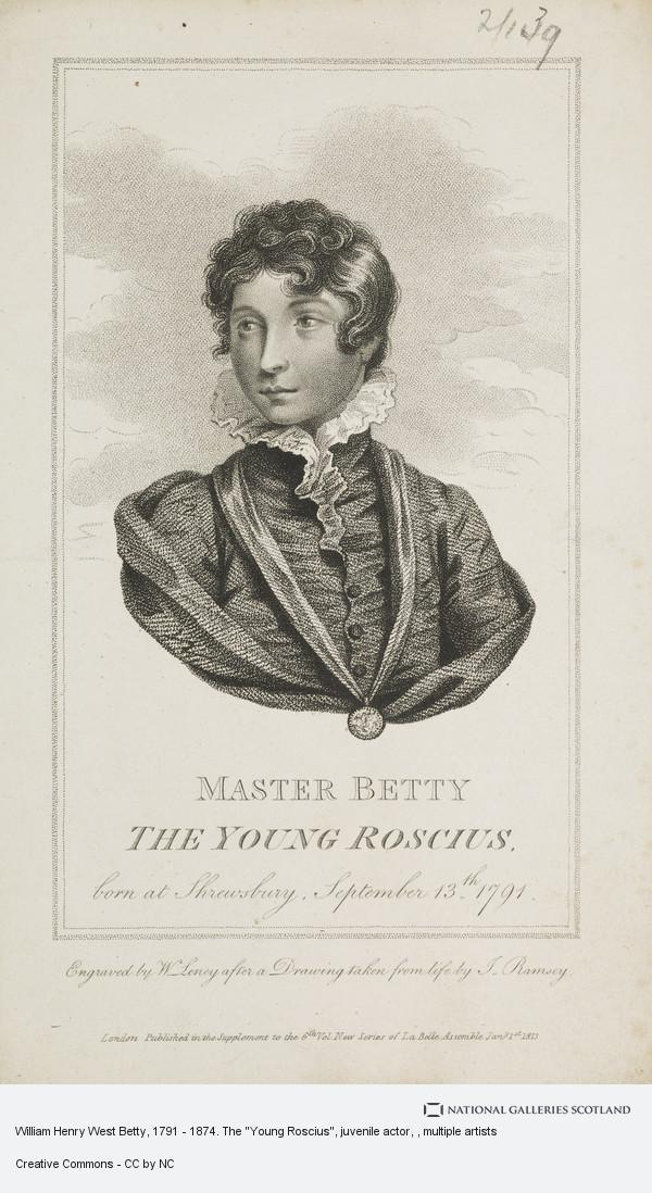 William Leney, William Henry West Betty, 1791 - 1874. The