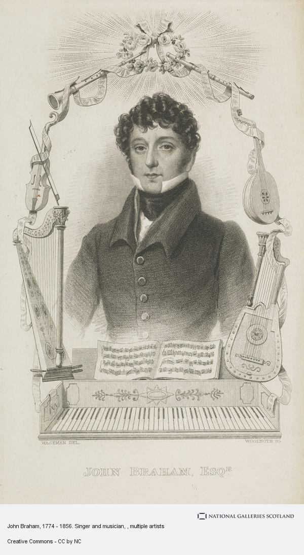 Thomas Woolnoth, John Braham, 1774 - 1856. Singer and musician
