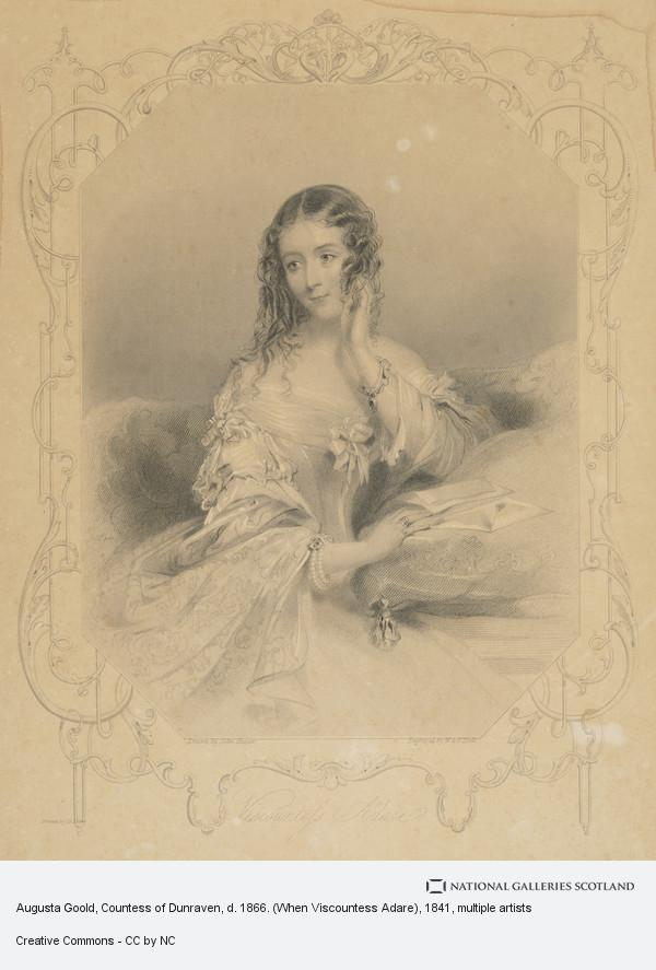 John Hayter, Augusta Goold, Countess of Dunraven, d. 1866. (When Viscountess Adare)