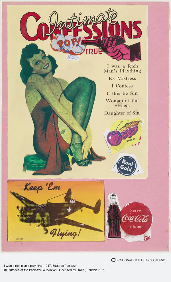 Eduardo Paolozzi, I was a rich man's plaything