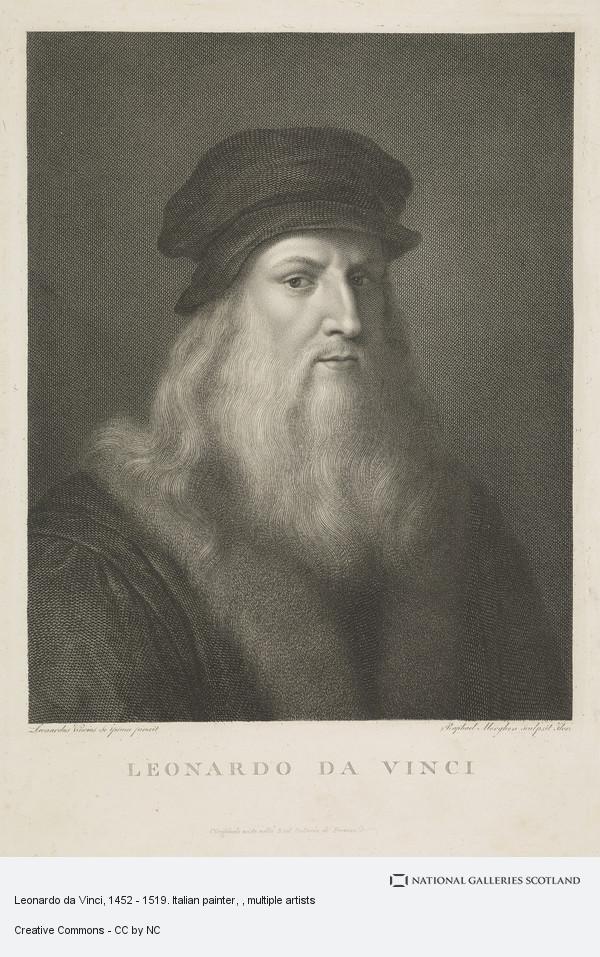 Raphael Morghen, Leonardo da Vinci, 1452 - 1519. Italian painter