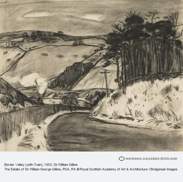 Sir William Gillies, Border Valley (with Train)