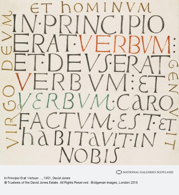 David Jones, In Principio Erat Verbum ...