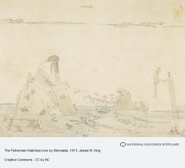 Jessie M. King, The Fisherman Watched over by Mermaids