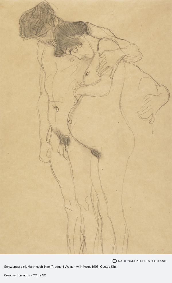 Gustav Klimt, Schwangere mit Mann nach links (Pregnant Woman with Man)