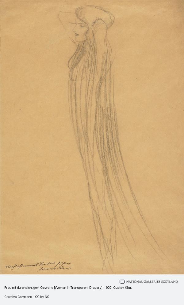 Gustav Klimt, Frau mit durchsichtigem Gewand [Woman in Transparent Drapery]